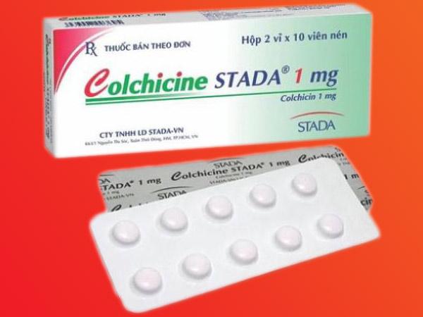 Colchicine được sử dụng điều trị bệnh gout