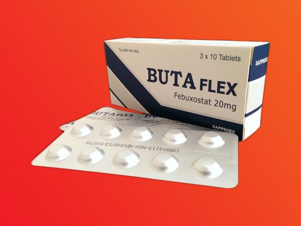 Thuốc ButaFlex chứa hoạt chất Febuxostat